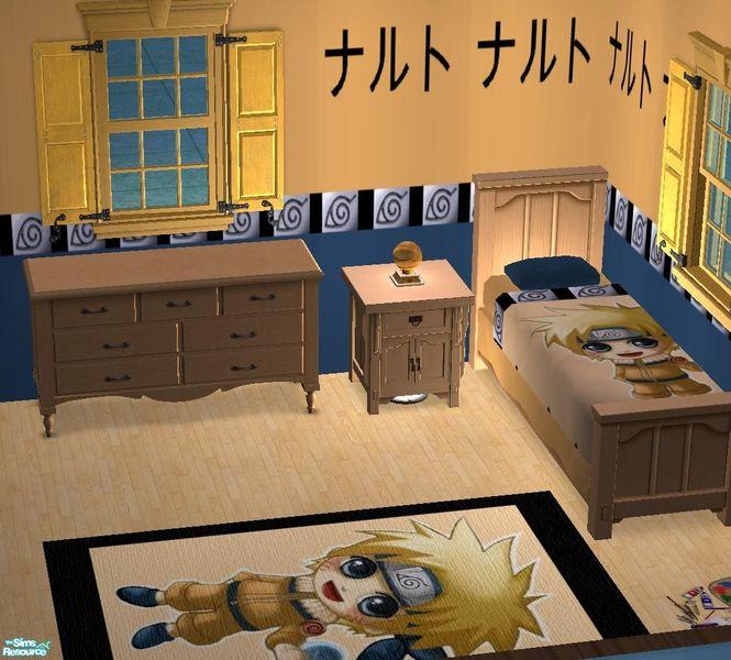Bury me deep inside your heart 39 s naruto set bedroom for Anime themed bedroom ideas