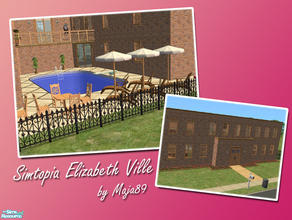 Sims 2 — Simtopia Elizabeth Ville by maja89 — Luxurious villa for a big family! There is a parents room, a nursery room,