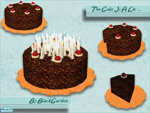 Sims 2 — The Cake Is A Lie by BlackGarden — Another set that probably only makes sense if you\'ve played Portal. Well the
