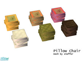 Sims 2 — pillow chair by Sophel21 — recolors of steffors awesome pillow chair mesh