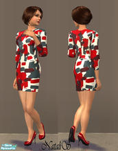 Sims 2 — NS fashion dresses for FA -item 1. by Natalis — New mesh for female adult and various recolors fashion dresses.