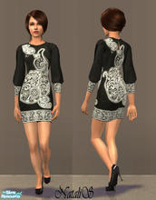 Sims 2 — NS fashion dresses for FA - item 2. by Natalis — New mesh for female adult and various recolors fashion dresses.
