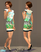 Sims 2 — NS fashion dresses for FA -item 4. by Natalis — New mesh for female adult and various recolors fashion dresses.