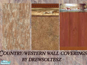 Sims 2 — Country/Western Wall Coverings by drewsoltesz — A mix of different wall coverings for your rustic, ranch,