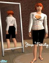 Sims 2 — Set by JinxTrinity — Layerd set with top bolero and skirt.