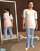 Sims 2 — Set by JinxTrinity — Sweet comfortable pj. T-shirt and sweats.