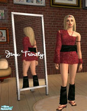 Sims 2 — Set by JinxTrinity — Red and black asian style!