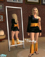 Sims 2 — Set by JinxTrinity — Orange and black asian style!