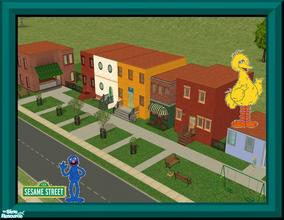 "Sims 2 — Sesame Street Lot by Small Town Sim — ""Sunny Day- Sweepin' the clouds away On my way to where the air is"