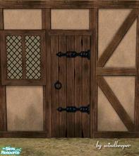 Medieval tavern weathered door & Downloads / Sims 2 / Objects / Build Mode / Doors - \u0027medieval\u0027