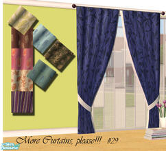 Sims 2 — More Curtains, please! #29 by Sophel21 — patterned fabric recolors of the awesome mesh by Shino&KCR (PB