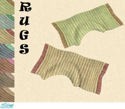 Sims 2 — Rugs by Sophel21 — striped colorful rugs / carpets. mesh by steffor (viva rug)