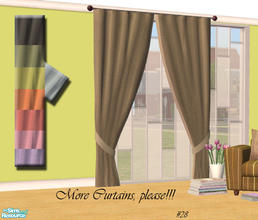Sims 2 — More Curtains, please! #28 by Sophel21 — uni fabric recolors of the awesome mesh by Shino&KCR (PB Nurcery P1