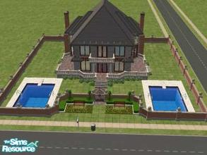 Sims 2 — Fabulous! by hesmylobster2 — The Perfect House! 2 Swimming Pools, 2 Floors, Gorgeous Exterior, Gorgeous