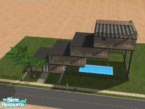 Sims 2 — Topsey Turvey House by Lil-Kiki — This Mordern and quite unsafe looking building is perfect for the modern