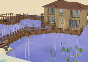 Sims 2 — Vu House by BadDay — One very oriental family home situated over water. A model home for Simmies who like to