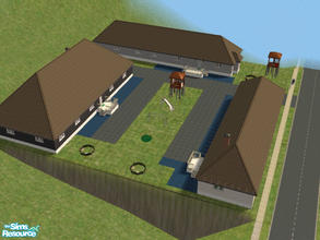 Sims 2 — Mobile Home Community Part III by brittie — A lovely set of three cozy condos. Consists of one double wide and