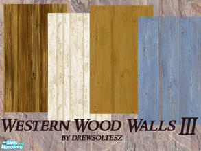 Sims 2 — Western Wood Walls III by drewsoltesz — Here are some frontier/western type rustic wood walls for building that