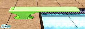 Sims 2 — green diving board by apemassie — :)