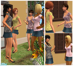 Sims 2 — Short and sweet. by Nanshi — Based on Liana\'s mesh - you must have this mesh in order to use any of these