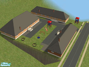 Sims 2 — Mobile Home Community Part IV by brittie — Another set of three lovely mobile homes with outdoor activites for