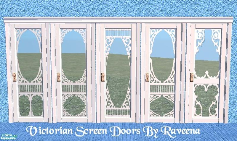 Charming Victorian Screen Door Set