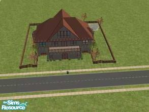 Sims 2 — Gorgeous! by hesmylobster2 — 2 Floors, 2 Bath's, Kitchen& Dining Room with fireplace! Pool, Pond, Just