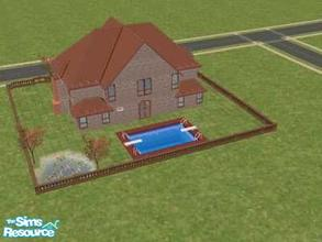Sims 2 — Beautiful! by hesmylobster2 — Gorgeous home for newlywed Sims! 2 floors, 2 baths, pool, pond, and room for