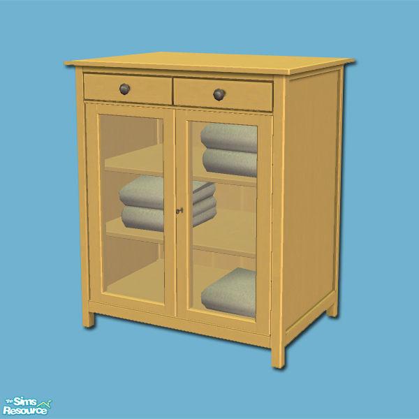 shakeshaft's Hemnes Add ons Linen Cabinet Yellow