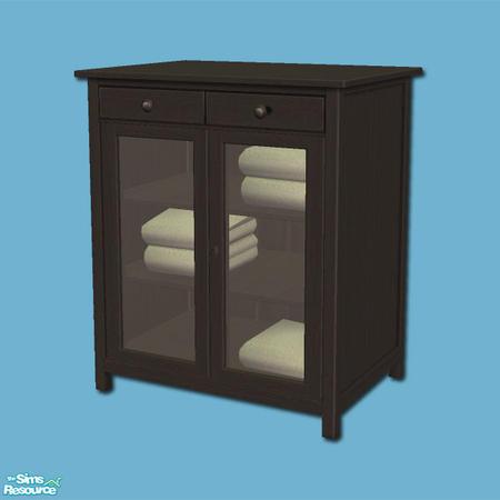 shakeshaft 39 s hemnes add ons linen cabinet black. Black Bedroom Furniture Sets. Home Design Ideas