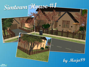 Sims 2 — Simtown House #1 by maja89 — First house in my new Simtown \'hood! Custom content free. Enjoy! :-)