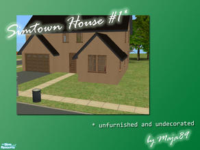 Sims 2 — Simtown House #1 - unfurnished and undecorated by maja89 — First house in my new Simtown \'hood! Furnishing and