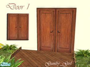 Rustic Country Door Set - Door 1 & Free Downloads / Sims 2 / Objects / Build Mode / Doors - \u0027country\u0027 Pezcame.Com