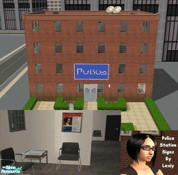 The Sims Resource Elegant Bathroom: Lexiy's Police Station Signs