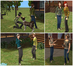 Sims 2 — Aikea Teen Females Recolours by Nanshi — Based on Aikea Guinea\'s Sneakers with Jeans for teen females mesh. You