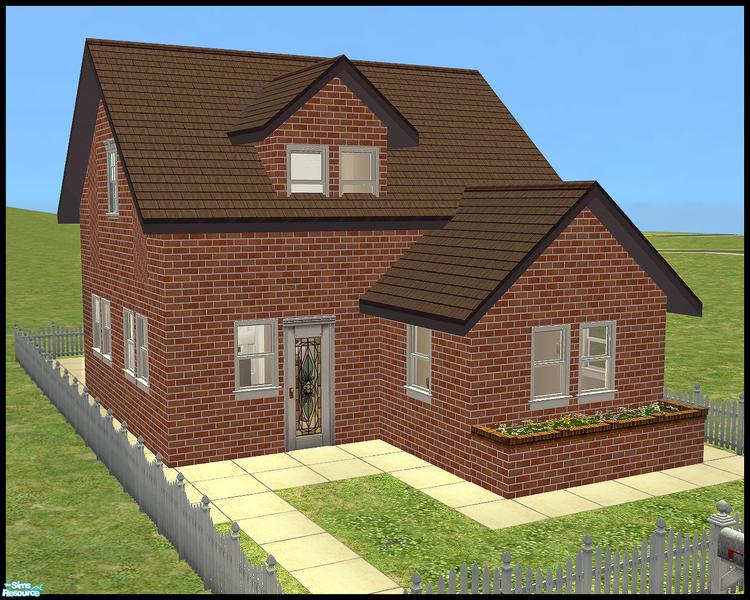 Cloudburst666 S 01 Mini House Lane Modern 1x2 Mid Sized Home