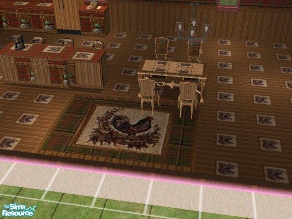 ead425 s Red Tartan Kitchen rug set