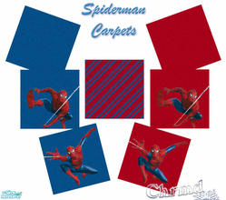 Sims 2 — Spiderman Carpet Set by Chrmd — A set of 6 spiderman floors for your child\'s bedroom. A matching set of