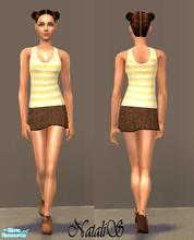 Sims 2 — NS casual teen collection-9 -1. by Natalis — New mesh for teen and six recolors. Variants for warm and cool