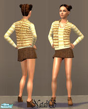 Sims 2 — NS casual teen collection-9 -2. by Natalis — New mesh for teen and six recolors. Variants for warm and cool