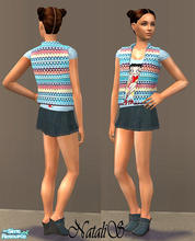 Sims 2 — NS casual teen collection-9 - 4. by Natalis — New mesh for teen and six recolors. Variants for warm and cool