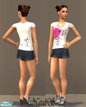 Sims 2 — NS casual teen collection-9 - 5. by Natalis — New mesh for teen and six recolors. Variants for warm and cool