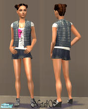 Sims 2 — NS casual teen collection-9 - 6. by Natalis — New mesh for teen and six recolors. Variants for warm and cool