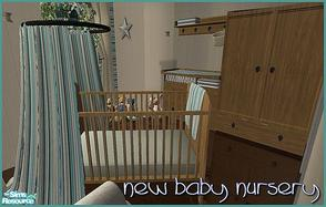 Sims 2 — New Baby Nursery by Angela — Modern wood Ikealike nursery.
