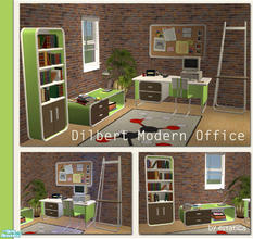 Sims 2 — Dilbert Modern Office Set by estatica — Made for sims who love to spend time studying new skills, this set