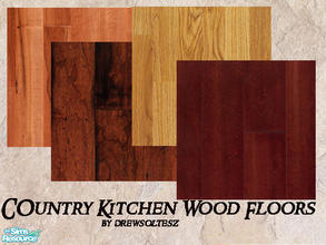Sims 2 — Country Kitchen Wood Floors by drewsoltesz — Four hardwood floors to decorate your country kitchen, or any room