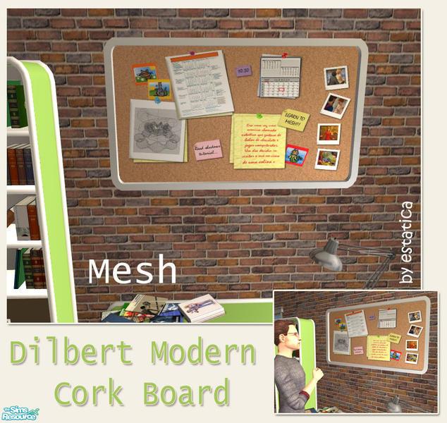 Estatica 39 s dilbert modern cork board for Modern bulletin board