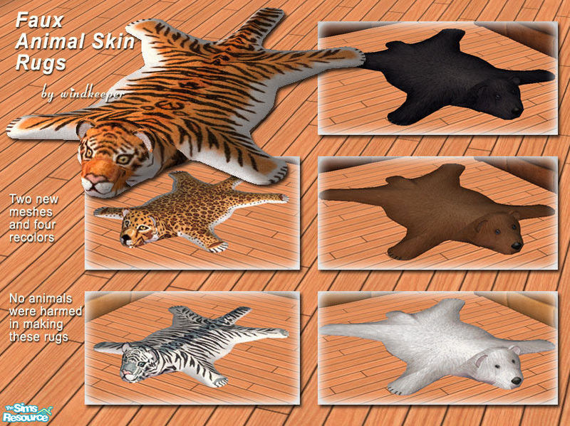 Faux Animal Skin Rugs