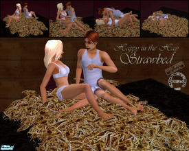Sims 2 — Happy in the hay - Strawbed by solfal — A low bed with new animations. The sim will not float in the air before