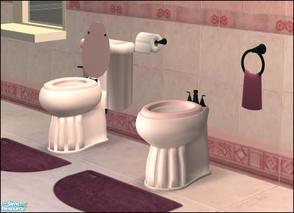 Romance Bathroom Pink Bidet